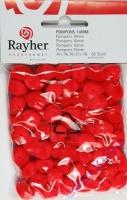 Pompons 10mm 65 Stück rot