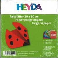 Faltblätter 10 x 10 cm 10 Farben 100 Blatt 60g/qm