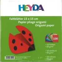 Faltblätter 15 x 15 cm 10 Farben 100 Blatt 60g/qm