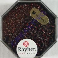Premium-Rocailles, 2,2 mm ø mit Silbereinzug klassikrot