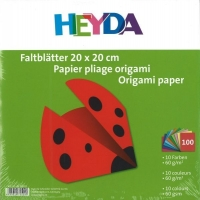Faltblätter 20 x 20 cm 10 Farben 100 Blatt 60g/qm