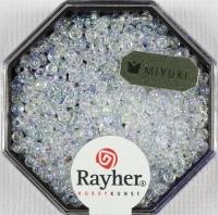 Premium-Rocailles, 2,2 mm ø transparent Rainbow mondstein