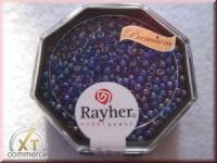 Premium-Rocailles, 2,2 mm ø transparent Rainbow ultrablau