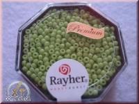 Premium-Rocailles, 2,2 mm ø transparent Rainbow apfelgrün