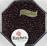 Premium-Rocailles, 2,2 mm ø gold gelüstert kirschrot