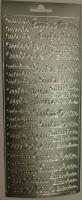 Rayher Stickerbogen Gutschein 22x9cm silber