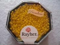 Premium-Rocailles, 2,2 mm ø opak goldgelb