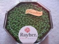 Premium-Rocailles, 2,2 mm ø opak immergrün