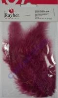 Deko-Federn 8cm 10 Stück dunkelrot