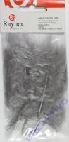 Deko-Federn 8cm 10 Stück grau