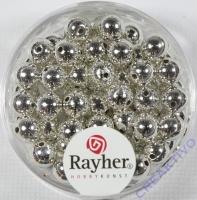 Rayher Plastik-Rundperlen 6mm silber