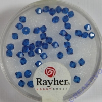 Rayher Swarovski Kristall-Schliffperlen 3mm nachtblau
