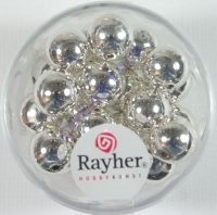 Rayher Plastik-Rundperlen 10mm silber