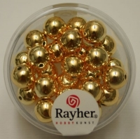Rayher Plastik-Rundperlen 8mm gold