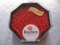 Premium-Rocailles, 2,2 mm ø opak feuerrot