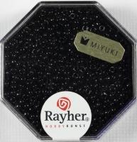 Premium-Rocailles, 2,2 mm ø opak schwarz