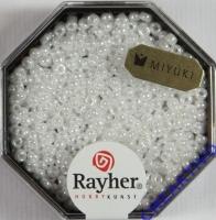 Premium-Rocailles, 2,2 mm ø opak gelüstert alabasterweiß
