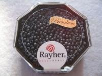 Premium-Rocailles, 2,2 mm ø metallic gefrostet blaugrau