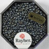 Premium-Rocailles, 2,2 mm ø metallic gefrostet anthrazit