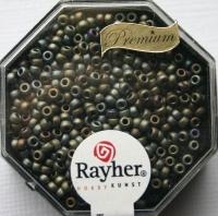 Premium-Rocailles, 2,2 mm ø metallic gefrostet rauch topas