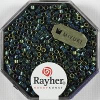 Delica-Rocailles, 2,2 mm ø metallic smaragd