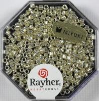 Delica-Rocailles, 2,2 mm ø metallic silber