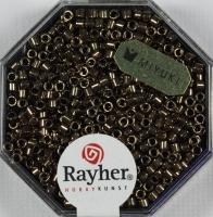 Delica-Rocailles, 2,2 mm ø metallic rauch topas