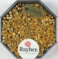 Delica-Rocailles, 2,2 mm ø metallic gold