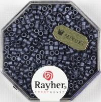 Delica-Rocailles, 2,2 mm ø metallic matt, blaugrau