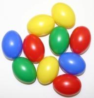 10 Plastik-Eier 6cm sortiert