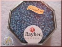 Delica-Rocailles, 2,2 mm ø transparent Rainbow matt, azurblau