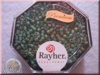 Delica-Rocailles, 2,2 mm ø transparent Rainbow matt, jaspis