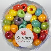 Rayher Glas Großlochradl opak 6,7mm bunt