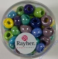 Rayher Glas Großlochradl opak 8,7mm bunt