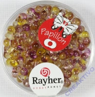 Papillon Rocailles Two Tone 3,2 x 6,5mm orchidee
