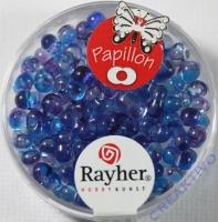 Papillon Rocailles Two Tone 3,2 x 6,5mm blauviolett