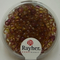 Rayher Rocailles Two Tone 4mm orchidee