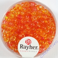 Rayher Rocailles Two Tone 4mm koralle