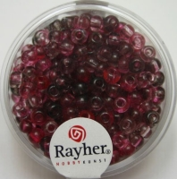 Rayher Rocailles Two Tone 4mm fuchsia