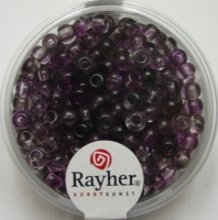 Rayher Rocailles Two Tone 4mm brombeere