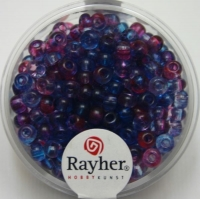 Rayher Rocailles Two Tone 4mm ultrablau