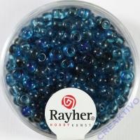 Rayher Rocailles Two Tone 4mm taubenblau
