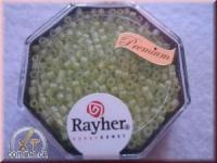 Delica-Rocailles, 2,2 mm ø transparent Rainbow matt, apfelgrün