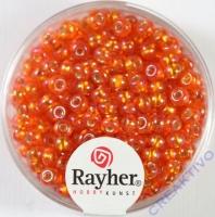 Rocailles mit Silbereinzug+ Rainbow 4mm mandarine