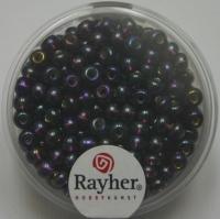 Rocailles mit Silbereinzug+ Rainbow 4mm purple velvet