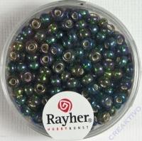 Rocailles mit Silbereinzug+ Rainbow 4mm artischocke
