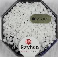 Delica-Rocailles, 2,2 mm ø opak matt, schneeweiß