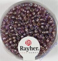 Rocailles 2,6mm mit Silbereinzug + Rainbow violett hell