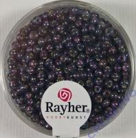 Rocailles 2,6mm mit Silbereinzug + Rainbow purple velvet