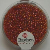 Rocailles 2mm mit Silbereinzug + Rainbow mandarine